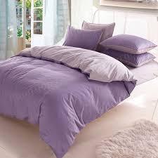 3 4pcs pure cotton light purple grey assorted bedding sets plain duvet cover