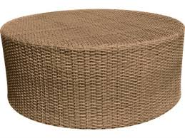 whitecraft saddleback wicker 36 round coffee table round outdoor coffee table 393 coffee