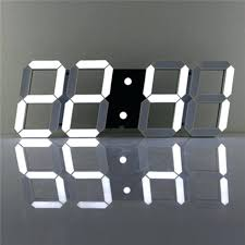 24 hour digital wall clock white large acrylic digital led skeleton wall clock timer hour display