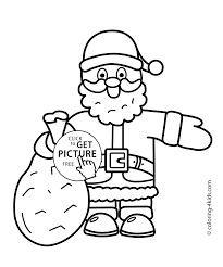 Small Picture Santa Claus Christmas coloring pages for kids printable free