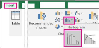how to make a histogram in excel create a histogram office support