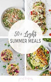 Light And Healthy Dinner 50 Light Summer Meals Jar Of Lemons
