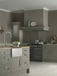 The Stylish Taupe Kitchen Cabinet for a Tight Kitchen : Awesome Kitchen  Remodeling Idea With Gray
