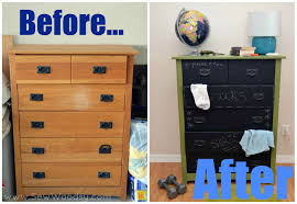 before after diy chalkboard painted dresser