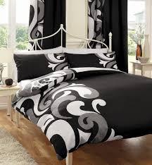 bedspread duvets comforters king bedding sets duvet cover white cute black grey printed size set