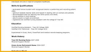 ... Sample Resume For Cna 19 Sample Cna Resumes Of No Experience Example ...