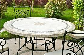 tile outdoor table. Mosaic Outdoor Dining Table Patio Round Stone Marble Tile