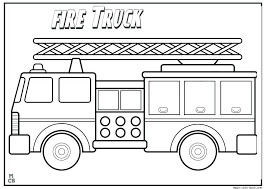 Fire Truck Coloring Page Inspirational Fire Truck Coloring Pages