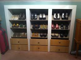 furniture: Trendy Ikea Shoes Rack Design Idea Made Of Wooden Material  Attached On The Wall
