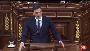 Resultado de imagen de Pedro Sanchez en Parlamento