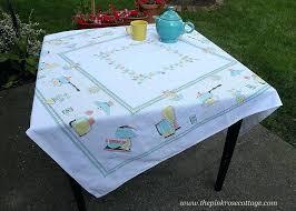 full size of mid century modern oval tablecloth vinyl vintage aqua appliances kitchen wonderful tablec round large