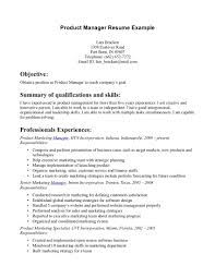 Product Manager Resume Sample Best Template Collection