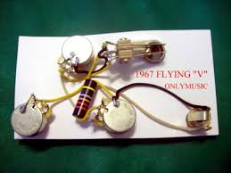 duffs guitar compatible 1967 flying v reproduction bumblebee wiring harness