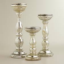 silver pedestal hurricane candle holders image antique and
