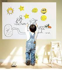 dry erase whiteboard wall decal l
