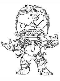 Unusual drawing of the hulk for coloring. Kids N Fun Com Venom Hulk