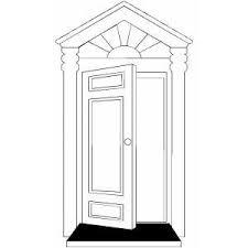 front door clipart black and white. Open Door Clipart Coloring Page #10 Front Black And White