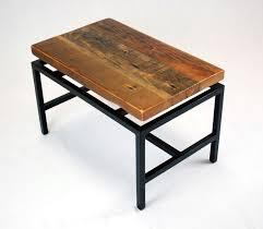 Coffee Table Industrial Handmade Floating Top Industrial Coffee Table In Reclaimed Fir By