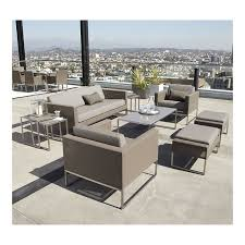 crate barrel outdoor furniture. Contemporary Outdoor Decor With Crate Barrel Deck Furniture Sets, Gray Faux Leather Cushion, C
