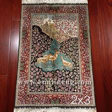 1a 2 3 small handmade silk fl pictorial rugs decorative tree wall hanging art tapestry lz23ad t1