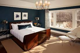 Dark Blue and White Bedroom Themes