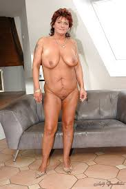 Shaved naked mature women