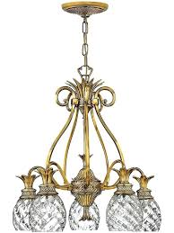 pineapple chandelier lighting antique plantation 5 light with pendant design