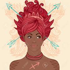 Zodiac Beautiful Girls Set (African American Version). Sagittarius. Royalty  Free Cliparts, Vectors, And Stock Illustration. Image 24677345.