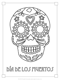 Sugar skulls day of the dead coloring book for adults: Sugar Skull Coloring Pages And Masks For Dia De Muertos