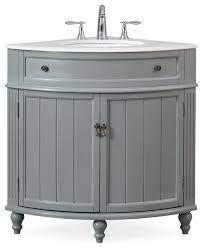 24 Thomasville Gray Corner Bathroom Vanity Traditional Bathroom Vanities And Sink Consoles By Chans Furniture Houzz