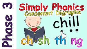 Ch, sh, th, wh and ph. Phase 3 Phonics Consonant Digraphs Ch Sh Th Ng Youtube