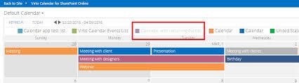 Online Office Calendar Actions With Calendar Items Office 365 Calendar App For Sharepoint