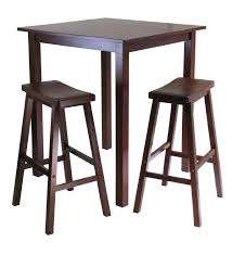 small square kitchen table: trendy high top table set designs