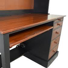 ethan allen ethan allen cherry wood black desk with hutch dimensions