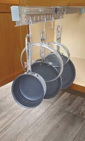 wall mounted pots metal pan shelf round hanging pot rack kitchen hanging rack wooden saucepan rack