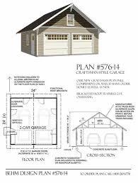 2 Car Garage Designs Garage Plans 2 Car Craftsman Style Garage Plan 576 14