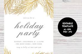 printable christmas invitations holiday invitation template 17 psd vector eps ai pdf format