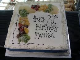 Happy 31st Birthday Manish Birthday Fresh Cream Fruit Cakes Cake