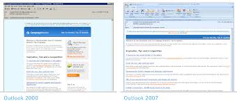 because word is a word processor intended for the print medium and not for the web the switch caused a significant downgrade of outlook s html and css