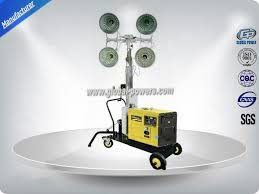 Portable Light Generator Self Exciting Portable Light Tower Rental Industrial