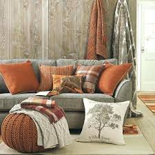 orange with burnt orange and teal living room