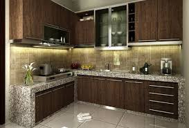 Paint Colors For Small Kitchen Kitchen Chic Small Kitchen With Granite Cabinets And Dark Color