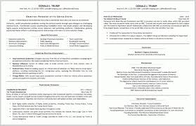 Resume Critique Service Updated Both Trump Applying For Presidency