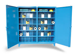 Strong Hold Cabinets Strong Hold Products Double Shift Metal Bin Storage Cabinet