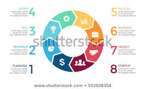Vector Circle Arrows Infographic Cycle Diagram Stock Vector Royalty