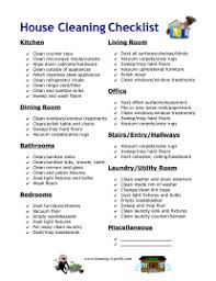 Cleaning House House Cleaning Checklist Pdf
