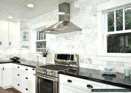 marble kitchen countertops white cabinets with black black white marble subway tile with black and cream