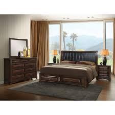 Luxury Cymax Beds Broval Light Espresso Wood King Size Storage ...