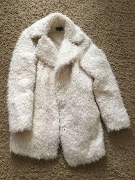 next faux fur coat size 6
