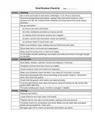Hostess Rotation Chart 018 Restaurant Side Work Checklist Template Chart 119303